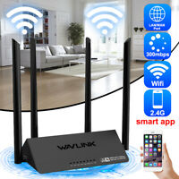 Wavlink 521R2P Wireless WiFi Router 4antenna 4x5dBi 300Mbps Extender APP  YY2