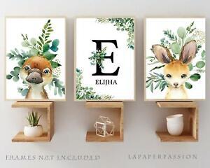 Australian Animal Nursery Wall Prints, Girls nursery wall prints,Girls,