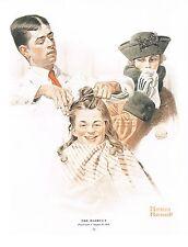 "Norman Rockwell barber shop print ""BOY'S  FIRST HAIRCUT"""