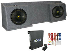 "2) Kicker 12"" Subwoofers + Gmc Chevy Silverado Ext Cab '99-06 Box + Amp + Wiring"