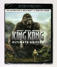 New! King Kong (2005) 3-Disc 4K Uhd + Blu-Ray + Digital Ultimate Edition Sealed