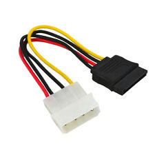 4 Pin IDE Male Molex to Dual SATA Y Splitter Female HDD Power Adapter Cable New