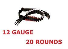 Ammo Belt Ammunition Holder 12 Gauge 20 Rounds QR Buckle Cartridge Pouch Hunting