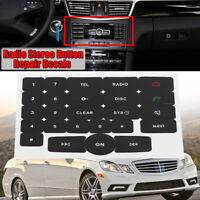Radio Stereo Worn Button Repair Decal Sticker Set For Mercedes // */!