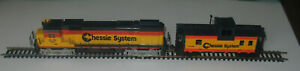 Vintage Tyco 250A Chessie System Alco 4301 Diesel HO Locomotive & Caboose