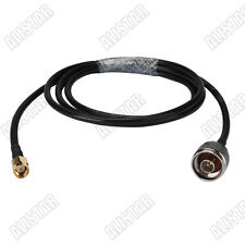 SMA male to N-Type male RF connector pigtail coax cable KSR195 5meters 16ft WLAN