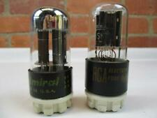 2 RCA Admiral 6SN7GTB Vacuum Tubes TV-7 Tested Strong