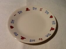 Corelle Hometown Country Bread and Butter Dessert Plates with images Red Houses