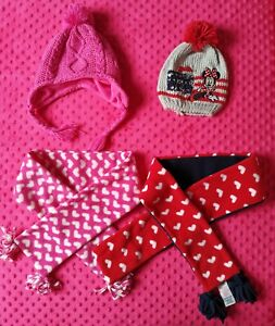 Disney Minnie Mouse Mothercare Baby Girl Winter Hat And Scarf Set