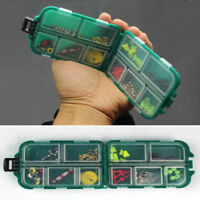 Useful 10 Compartments Fishing Lure Spoon Hook Rig Bait Storage Case Tackle Box