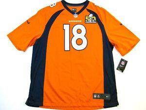Peyton Manning Denver Broncos Super Bowl 50 Commemorative 2XL Nike Game Jersey
