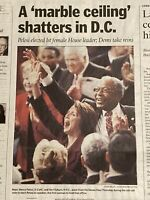 Nancy Pelosi Elected First Female U.S. House Leader January 05 2007 Collectible