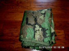 Genuine U.S Military issue Wet Weather Poncho Liner Woodland Camouflage Woobie