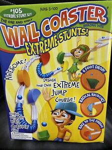 Wall Coaster Marble Runs Extreme Stunt Set Developmental Toys - All Ages
