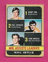 1972-73 OPC # 283 ESPOSITO + ORR + RATELLE   LD  HIGH # GOOD CARD (INV# C2189)