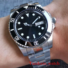 Bliger Automatic Watch Sub Black Dial Sapphire Glass Luminous 904L Oyster Strap