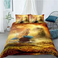 Great Mysterious Blue Mermaid 3D Quilt Duvet Doona Cover Set Pillow case Print