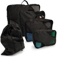 5 Pcs Packing Cubes Set Travel Luggage Organizer Zip Clothes Storage Bag Pouch