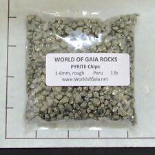 PYRITE CHIPS Rough 1-6mm Natural Ore bulk stones 1 lb grayish-gold metal