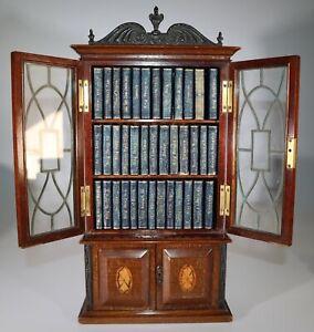 1904 Works of William Shakespeare 38 Vols Georgian Style Bookcase MINIATURE Rare