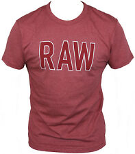 New G-Star Raw Mens T-Shirt Round Neck in Dry Red Colour Size M