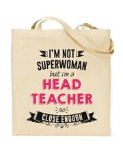 I'm Not Superwoman But I'm a HEAD TEACHER Tote Bag Teacher Funky NE Ltd ®