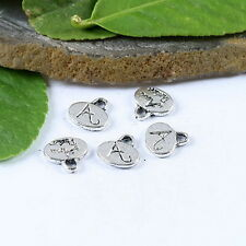 60pcs Tibetan silver crafted oval charms h1061