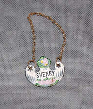 French Enamel Decanter Label Ticket Sherry