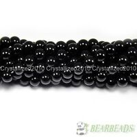 Natural Black Onyx Gemstones Round Beads 3mm 4mm 5mm 6mm 8mm 10mm 12mm 15.5''