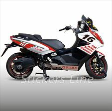 adhésifs carénage gilera GP800 kit autocollant GP 800 stickers RACING 2