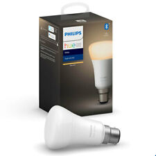 Philips Hue Warm White Bluetooth 9W A60 B22 Smart Light Bulb App Control