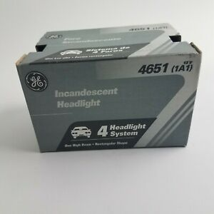 GE Incandescent Headlight 1651 12v (1a1) new old stock NOS