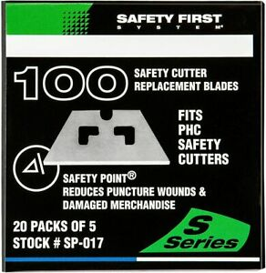 Pacific Handy Cutter SP-017 Safety First Safety Point Replacement Blades, BX/100