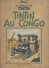 Antiek stripalbum/Ancien bande dessinee 'TinTin au Congo'