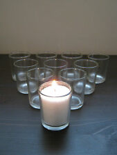 10 Pk Beautiful Clear Glass Votive Tea Light Candle Holders Wedding Table Party