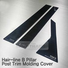 Hair-line Black B Pillar Trim Post Molding Cover 6pcs For HYUNDAI 12-16 Azera HG