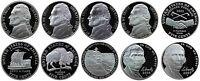 2000-2007 S Complete Set Jefferson Nickel Gem Proof Run 10 Coins US Mint 2000's