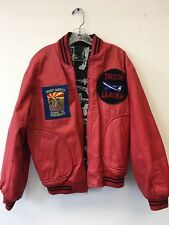 Vintage rare Troop Hip Hop leader technology perfection  jacket red Medium