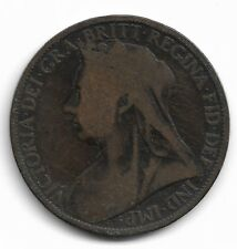 Britain Queen Victoria One Penny Coin - 1898