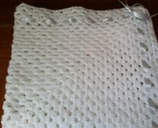 baby crochet blanket Handmade/white christening blanket