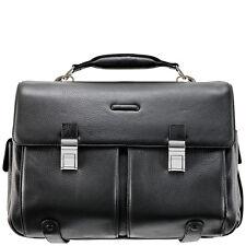 Piquadro Modus Black Business briefcase, organizable w/ bkpk straps CA1068MO/N