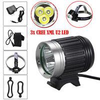10000LM 3x CREE XML U2 LED Head Bicycle Bike HeadLight Lamp Light Headlamp Torch