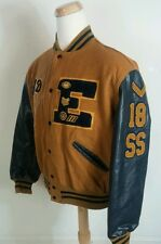 Vintage 80s Wool Letterman Jacket Coat Baseball Football Basketball Short Stop L