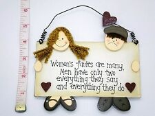 Women's Faults Wall Plaque Novelty Christmas Secret Santa Gift Ideas For Her