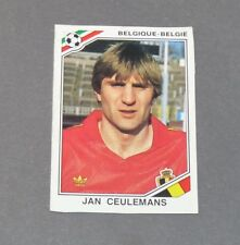CEULEMANS BELGIQUE BELGIË DIABLES RECUPERATION PANINI FOOTBALL MEXICO 86 WM 1986