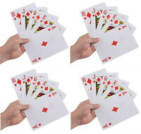 "4 DECKS GIANT SUPER JUMBO 5"" X 7"" PLAYING CARDS NICE QUALITY LARGE HUGE BIG"