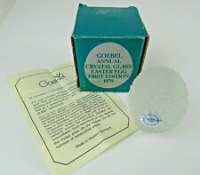 Vintage 1979 Goebel Annual Crystal Glass Easter Egg First Edition ~ West Germany