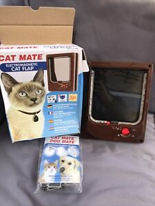 Cat Mate Electromagnetic Cat Flap - BROWN 254B New Unwanted