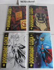 ALL SIGNED GEOFF JOHNS DC COMICS DOOMSDAY CLOCK # 1 A B C D COVERS WITH SWAG LOT
