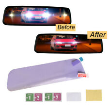 196 x 50mm Car Inner Rearview Mirrors Anti-glare Film Clear Protective Sticker